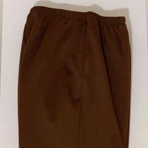 Size 3X Chocolate Brown Haband Brand Pant